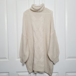 Womens Aerie Cowl Neck Sweater Xlarge